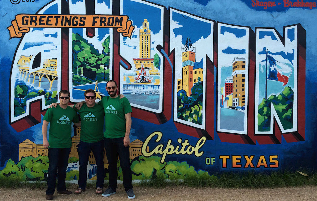 Evan, Dave, and I shortly after getting accepted into Techstars and moving to Austin, TX for the summer of 2014.